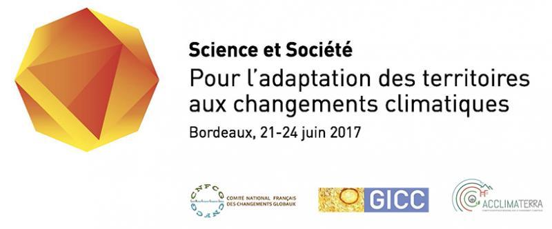 """Colloque Science et Société """"Pour l'adaptation des territoires aux changements climatiques"""""""