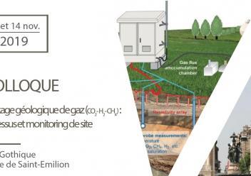 Colloque Stockage géologique de gaz (CO2- H2- CH4 ) : processus et monitoring de site