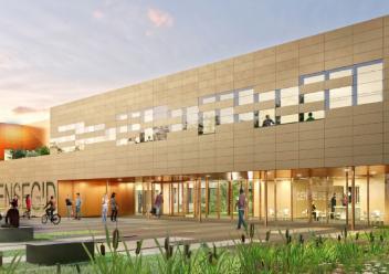 Projection du nouveau bâtiment de l'ENSEGID
